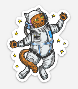 Astronaut Cat - Vinyl Sticker