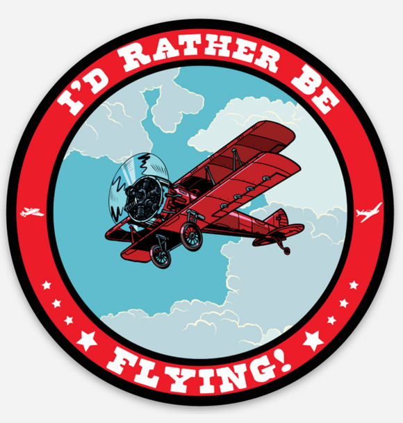 I'd Rather Be Flying - Circle - Magnet