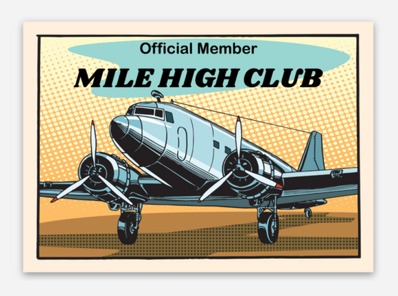 Mile High Club - DC3 - Vinyl Sticker