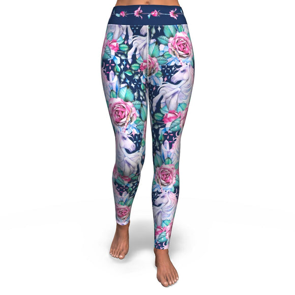 Unicorn Roses - Yoga Leggings