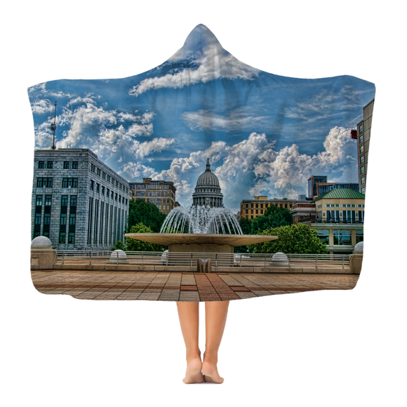 Wisconsin Capitol  - Adult Hooded Blanket