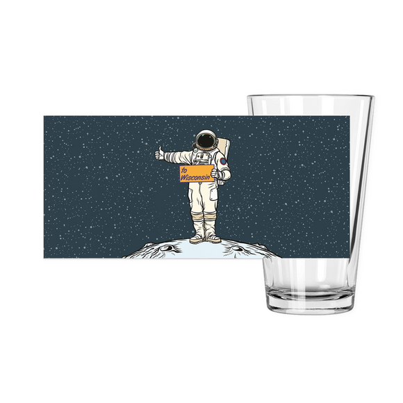 Wisconsin Spaceman - Pint Glass
