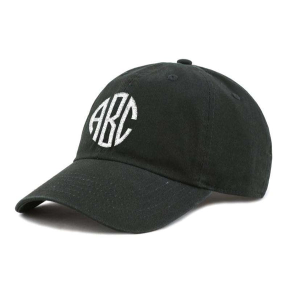 Custom Embroidery Baseball Hat - Round Monogram