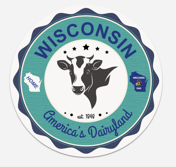 Wisconsin Dairyland - Coaster - Set of 10