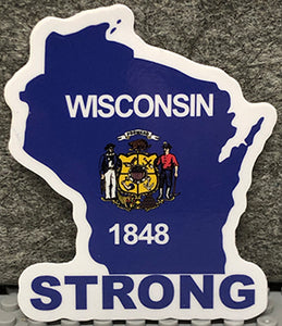 "Wisconsin ""Strong"" - Vinyl Sticker"