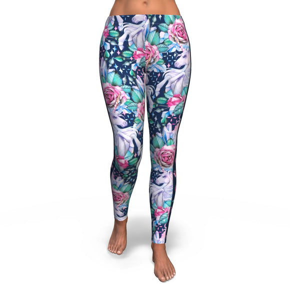 Unicorn Roses - Leggings