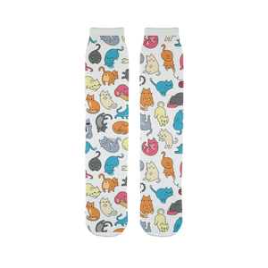 Colorful Cats  - Tube Socks