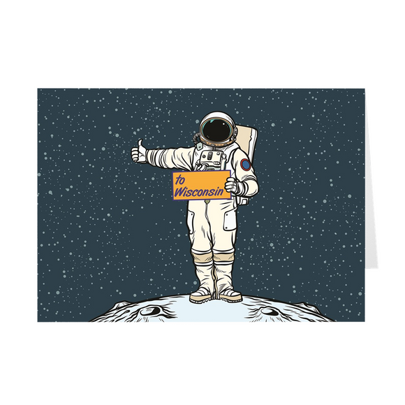 Wisconsin - Spaceman - Greeting Cards