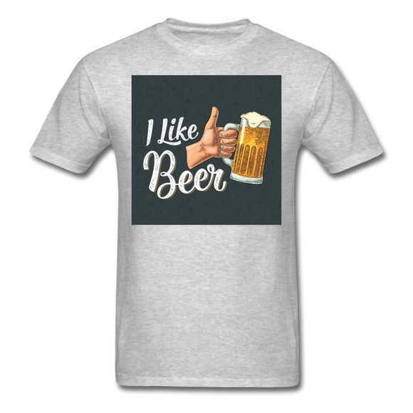 I Like Beer - Men's T-Shirt - heather gray