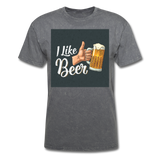 I Like Beer - Men's T-Shirt - mineral charcoal gray