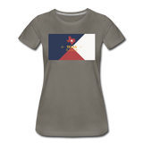 Texas Info Map - Women's Premium T-Shirt - asphalt gray