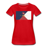 Texas Info Map - Women's Premium T-Shirt - red