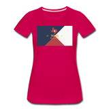 Texas Info Map - Women's Premium T-Shirt - dark pink