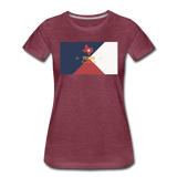 Texas Info Map - Women's Premium T-Shirt - heather burgundy