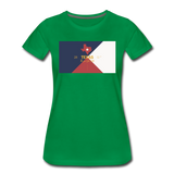 Texas Info Map - Women's Premium T-Shirt - kelly green