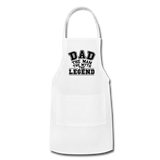 Dad the Legend - Adjustable Apron - white