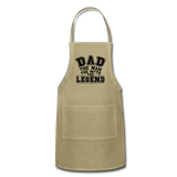 Dad the Legend - Adjustable Apron - khaki
