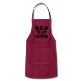 Dad the Legend - Adjustable Apron - burgundy