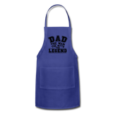 Dad the Legend - Adjustable Apron - royal blue