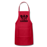 Dad the Legend - Adjustable Apron - red