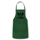 Dad the Legend - Adjustable Apron - forest green