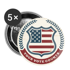 Vintage Your Vote Counts - Buttons small 1'' (5-pack) - white