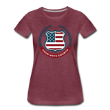 Your Vote Counts - Women's Premium T-Shirt - heather burgundy