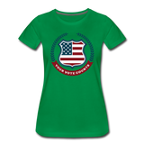 Your Vote Counts - Women's Premium T-Shirt - kelly green
