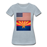 US & Arizona Grunge Flags - Women's Premium T-Shirt - heather ice blue
