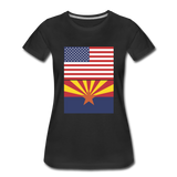US & Arizona Flags - Women's Premium T-Shirt - black