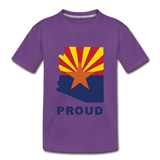 "Arizona ""PROUD"" - Kids' Premium T-Shirt - purple"
