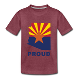 "Arizona ""PROUD"" - Kids' Premium T-Shirt - heather burgundy"
