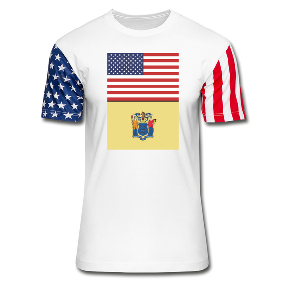 US & New Jersey Flags - Stars & Stripes T-Shirt - white