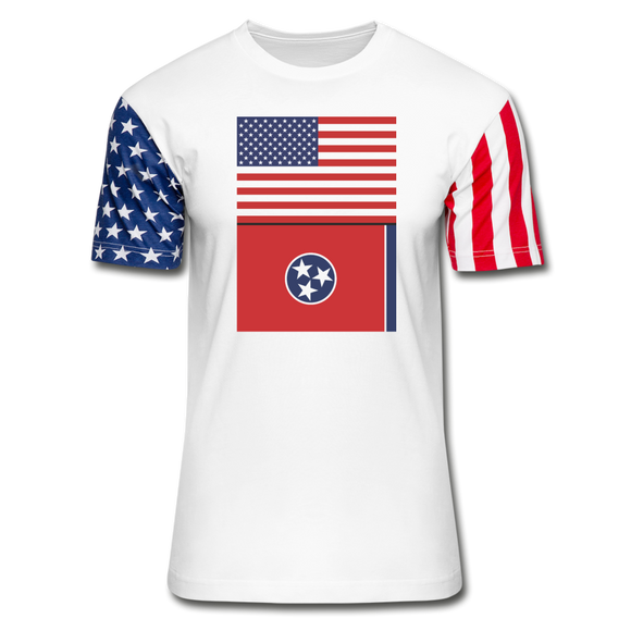 US & Tennessee Flags - Stars & Stripes T-Shirt - white