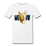 Cat Face - Meow - Men's Premium T-Shirt - white