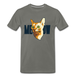 Cat Face - Meow - Men's Premium T-Shirt - asphalt gray