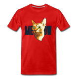 Cat Face - Meow - Men's Premium T-Shirt - red
