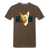 Cat Face - Meow - Men's Premium T-Shirt - noble brown