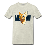 Cat Face - Meow - Men's Premium T-Shirt - heather oatmeal