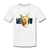 Cat Face - Meow - Kids' Premium T-Shirt - white