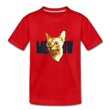 Cat Face - Meow - Kids' Premium T-Shirt - red