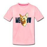 Cat Face - Meow - Kids' Premium T-Shirt - pink