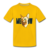 Cat Face - Meow - Kids' Premium T-Shirt - sun yellow