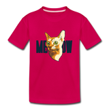 Cat Face - Meow - Kids' Premium T-Shirt - dark pink