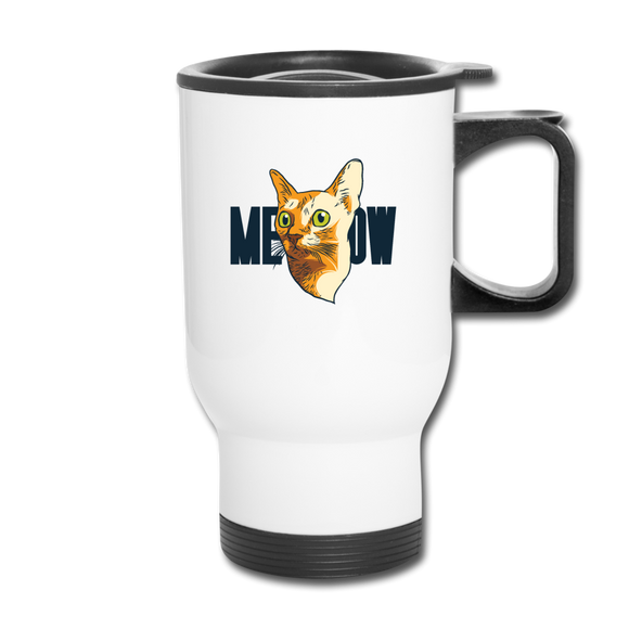 Cat Face - Meow - Travel Mug - white