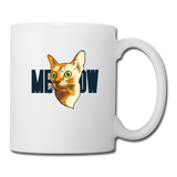 Cat Face - Meow - Coffee/Tea Mug - white