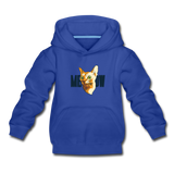 Cat Face - Meow - Kids' Premium Hoodie - royal blue