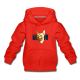 Cat Face - Meow - Kids' Premium Hoodie - red