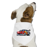 Hot Rod - Retro - Dog Bandana - white