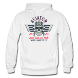 Aviator - Air Ace - Gildan Heavy Blend Adult Hoodie - white